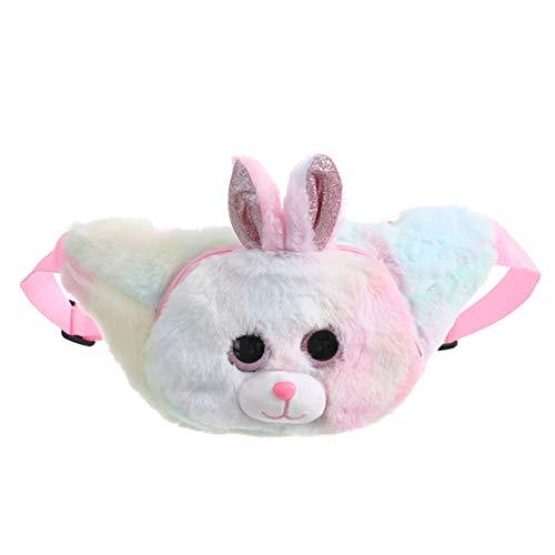 LOKKSI - Riñonera para niños, diseño de unicornio con dibujos animados, para mujer y niña, color rosa