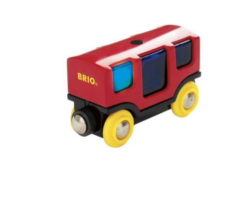 Brio - Circuit de train en bois - Wagon classique - Compatible Smart track