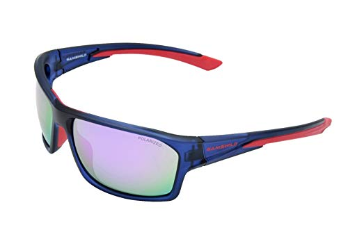Gamswild WS4834 Sonnenbrille Skibrille Fahrradbrille Damen Herren Unisex   blau-lila   schwarz-grün   grau-orange, Farbe: Blau/Lila