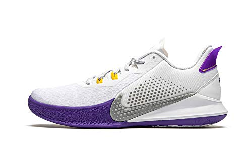 Nike Men's Kobe Mamba Fury Basketball Shoes CK2087 (White Wolf Grey-Pure Platinum, Numeric_10.5)