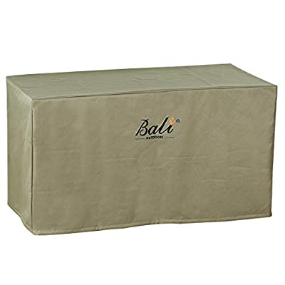 """BALI OUTDOORS Rectangular Fire Pit Covers, Waterproof and Weather Resistant PVC Material, Khaki, 42.2"""" L x 24.2"""" W x 22.8"""" H"""