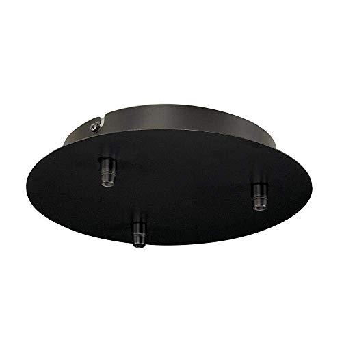 SLV Deckenrosette Fitu 3-er Rosette, rund, inklusiv Zugentlastungen, schwarz 132610