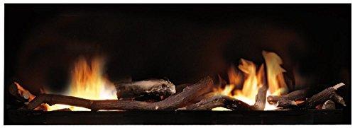 Ruby Fires XXL Bausatz (52 x 125 x 21 cm) Ethanol Kamin mit keramischen Brennsystem, TÜV geprüft,