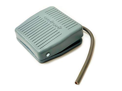 Interruptor de pedal, TFS-201, 10 A, 250 V CA, interruptor de pedal, pedal de control de pedal, interruptor de reinicio con cable de 18 cm