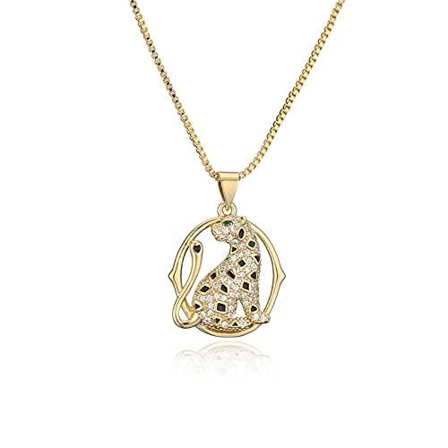 SWAOOS Collar con Colgante geométrico de Labios de Animales de Color Dorado para Mujer y niña, Regalo de joyería de Boda con Cz de Lujo para Mujer