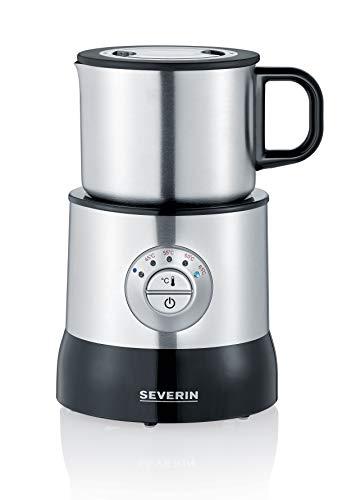 SEVERIN SM 3583 Emulsionador de Leche, Calentador (hasta 700 ml), Emulsionador (hasta 350 ml), Inducción, Acero inoxidable/Negro