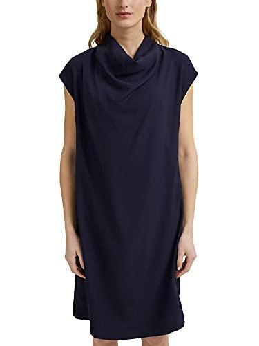 ESPRIT Collection 031EO1E308 Vestido, 400/azul Marino, 44 para Mujer
