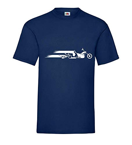 Motorcycle Chopper Evolution Schweif mannen T-shirt - shirt84.de