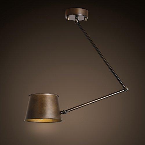 SDKKY Étude américaine rétro du sélecteur de salon chambre petit réglage plafonnier du lampe plafond télescopiques industriels 197 * 653mm