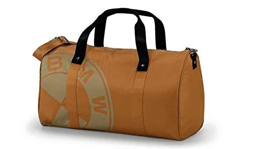 BMW Original Duffle Bag Modern Sporttasche Reisetasche Weekender Beige Sand - Kollektion 2020/21