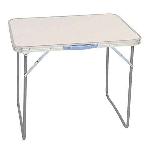 Rund 70x50x60 cm aluminio camping mesa plegable portátil mesa plegable para al aire libre camping barbacoa fiesta picnic mercado cocina trabajo mesa superior