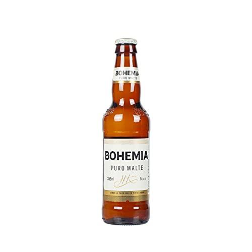 Leichteres brasilianisches Bier, Bohemia Puro Malte, 5,0% vol., Long-Neckflasche 355ml.