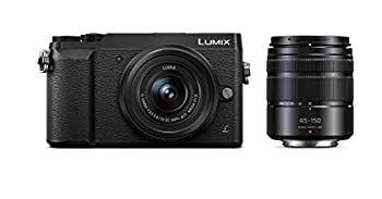 Panasonic LUMIX GX85 4K Digital Camera 12-32mm and 45-150mm Lens Bundle 16 Megapixel Mirrorless Camera Kit 5 Axis In-Body Dual Image Stabilization 3-Inch Tilt and Touch LCD DMC-GX85WK  Black