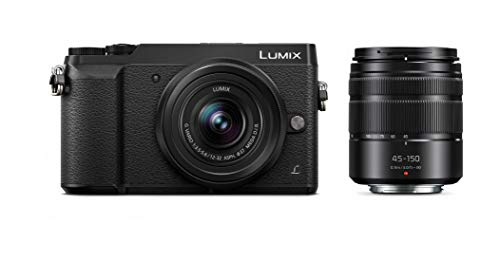 PANASONIC LUMIX GX85 4K Digital Camera, 12-32mm and 45-150mm Lens Bundle, 16...