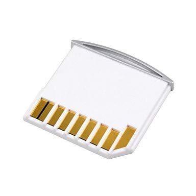 QAZSE - Mini Adaptador para Tarjeta Micro SD TF a SD para Macbook Air/Pro/Retina (Almacenamiento Adicional), Color Blanco
