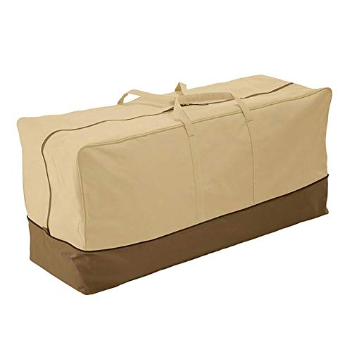 CHEYLIZI Furniture Cushion Storage Bag Extra Large - Heavy Duty Waterproof Outdoor Garden Patio Lounger Cushion Protective Organizer Bags (152x71x51cm) (420D Oxford Fabric)