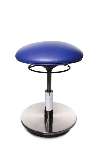 Topstar ST59S18 Drehhocker Sitness 23 / Bezugstoff royalblau / Fussplatte Holz mit Edelstahlabdeckung