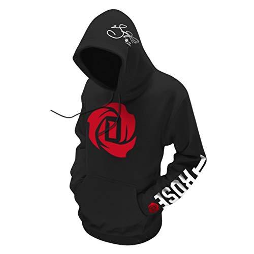 XGMJ Derrick Rose - Sudadera con capucha para hombre, diseño de Bulls Timberwolves, color negro y XL