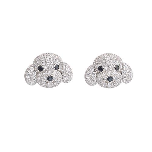XINTIAN Stud Earrings 925 Sterling Silver Crystal Cute Dog Stud Earring For Women Fashion Party Jewelry Accessories