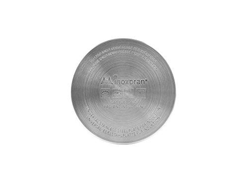 INOXPRAN 6511 Piastra, Acciaio, Grigio, 12x12x0.5 cm