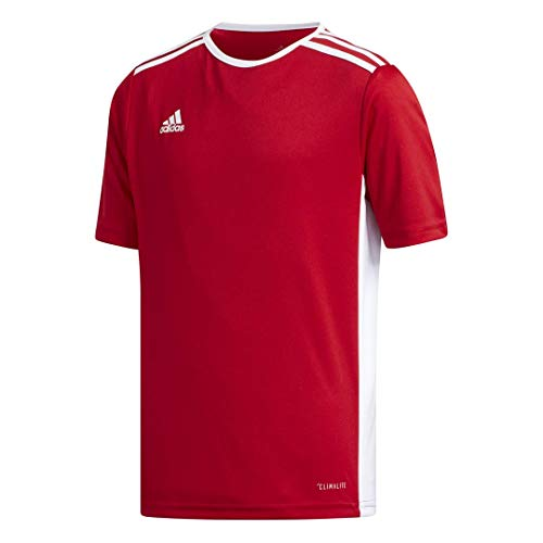 Adidas Youth Entrada 18 – Camiseta, Entrada Jersey, Rojo Power/Blanco, Mediano
