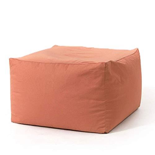 MUBAY Bean Bag Puf Sofá Perezoso Balcón Dormitorio Tatami Cuadrado de Tela pequeño sofá, Silla Plegable Inicio Lazy Piso Sofá con Estilo Sofá Camas Silla de salón con la Almohadilla (Color : Pink)