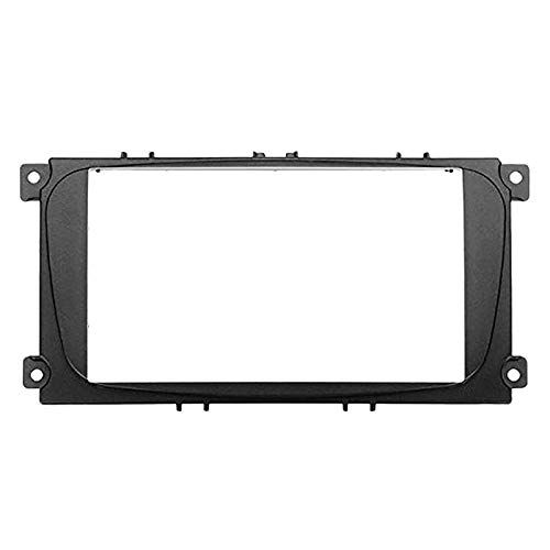FangFang 2 Marco de Radio DVD DVD DIN Car Ford Focus II C-MAX S-MAX Fusion STETEO Panel TAST Mount Doble DIN FASTICA Instalar Kit de instalación (Color Name : Black)