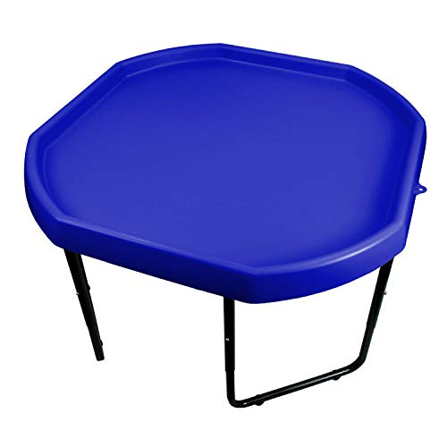 Children's Plastic Sand & Water Mixing Play Tray - DARK BLUE - 70cm x 70cm & Height Adjustable Stand.