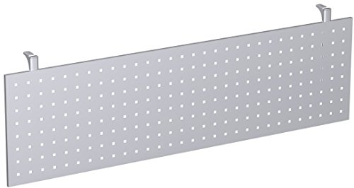 Gera Möbel 4 Fuß Flex Knieraumblende, Tischzubehör, Metall, Silber, 160 x 6.5 x 40 cm