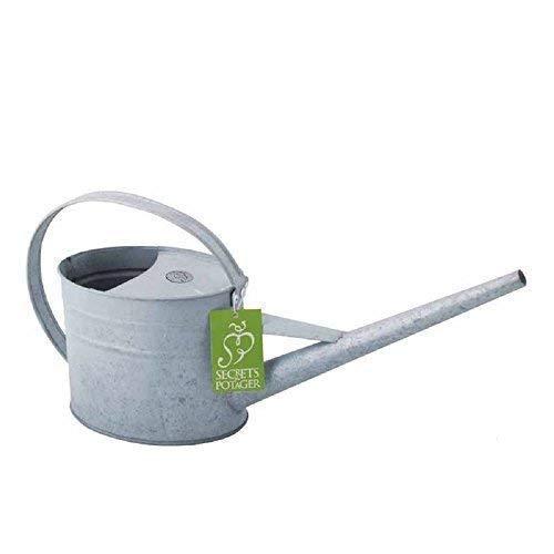 Gießkanne, Wasserkanne für Zimmerpflanzen, Nostalgie Kanne aus Zink 1,6 Liter