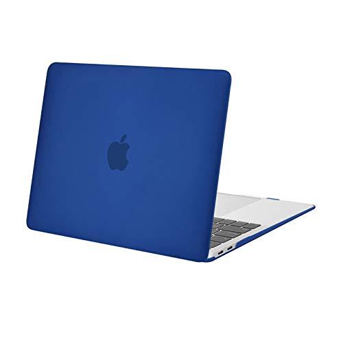MOSISO Funda Dura Compatible con 2020-2018 MacBook Air 13 Pulgadas A2337 M1 A2179 A1932 con Pantalla Retina & Touch ID,Ultra Delgado Carcasa Rígida Protector de Plástico Cubierta,Azul