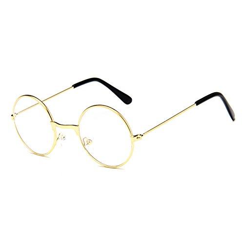 juqilu juqilu Rund Retro Gläser für Kinder - Jungen und Mädchen Transparente Linsen Lesen Gläser Metall Brillenfassung Klassisches Brille mit Auto Form Brillenetui