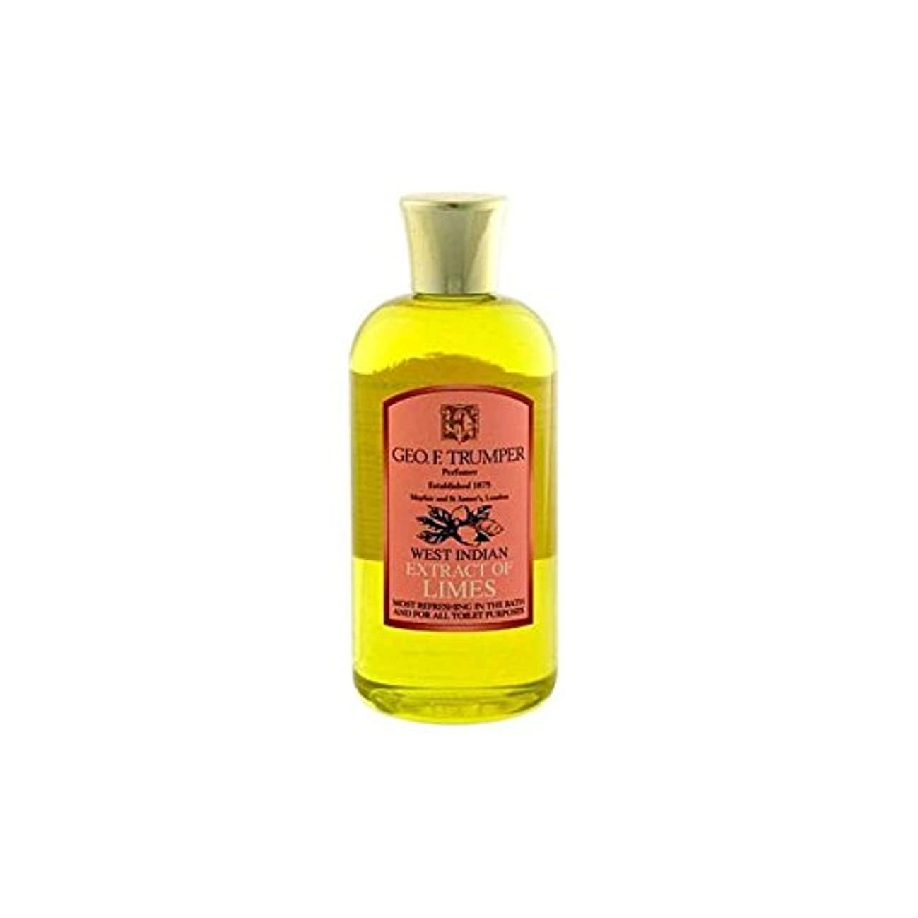 責める中央つらいライムのバスタブとシャワージェル200の抽出物を x4 - Trumpers Extracts of Limes Bath and Shower Gel 200ml (Pack of 4) [並行輸入品]