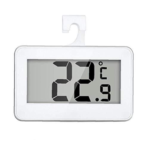 Nicetruc Nevera Termómetro, a Prueba de Agua Refrigerador Congelador la Temperatura del termómetro del Monitor LCD de fácil Lectura Pantalla con Hook -20 a 60 Grados