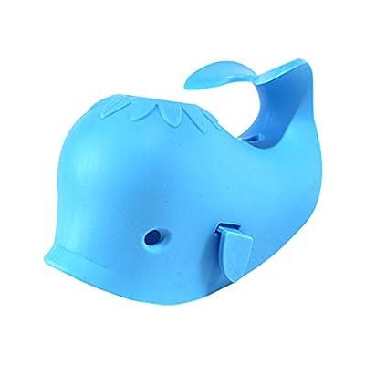 DYSONGO Bath Faucet Cover Whale Bathtub Spout Cover Soft for Kids Blue.