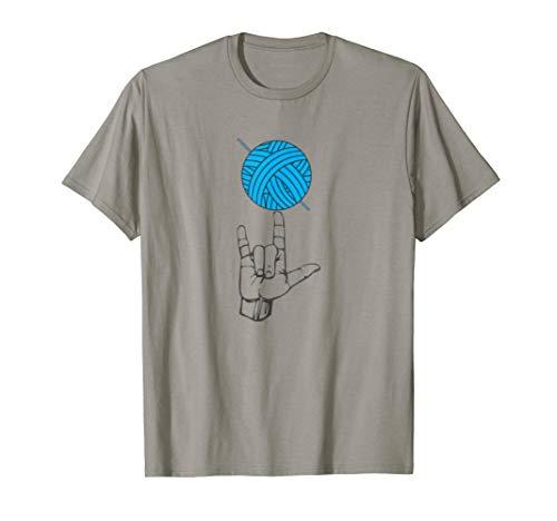 Deaf Pride I Love Crochet Hand Heart Sign Language ASL Gift T-Shirt