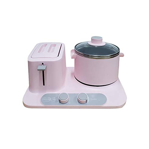 KLYHCHN Toaster Whall Stainless Steel Function,Removable Crumb Tray,Toast Evenly And Quickly For Various Bread Two Stage Fire Heating Breakfast Machine Multi Function Household Heat (Pink)