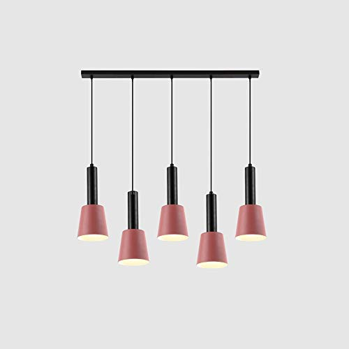 Towyoy New Nordic Style Creative Bedside Iron Chandelier Modern Minimalist Bedroom Porch 5 Heads Restaurant Bar Coffee Shop Bar Bedroom Study Light Luxury Chandelier Interior Decoration Lighting