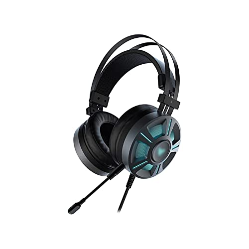 WGLL PS4 Auriculares de Juego con 7.1 Sonido Envolvente, un Auricular con micrófono de cancelación de Ruido Y RGB Luz, sobre Auriculares en oído, Compatible con PC, PS4, Xbox uno, Laptop