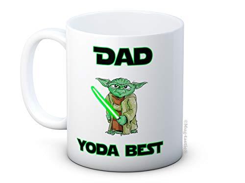 Dad Yoda Best - Funny Ceramic Coffee Mug - Great Father's Day Gift! Birthday Christmas