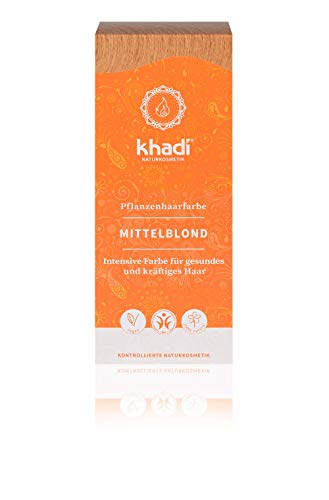 Khadi Naturprodukte Khadi Coloration capillaire Blond moyen 100 g