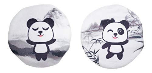 2er Set Panda Handwärmer mit Fleeceüberzug Taschenwärmer Wärmflasche mehrfar