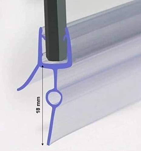 Duschdichtung für 5-6mm Duschtrennwand, Dichtung 90 cm lang, Höhe der Lippe 18 mm