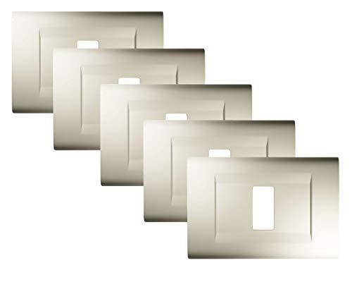 FEB 2581/WH/K – Confezione di 5 placche Bianco 1 posto