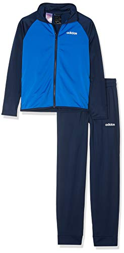 adidas Kinder Trainingsanzug TS Entry Trainingsanzug, Conavy/Blue/White, 164, DV1744