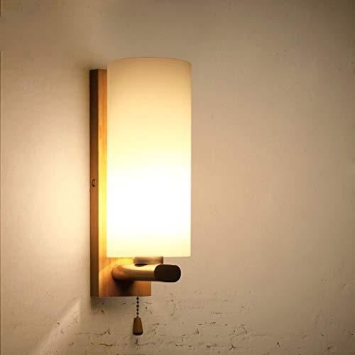 Chenbz Lámpara de Pared de la Pared del Estilo Chino de Madera Antiguo Led, Personalizada Dormitorio Creativo lámpara de cabecera Balcón Pasillo Luces de la Escalera Lámparas de Pared