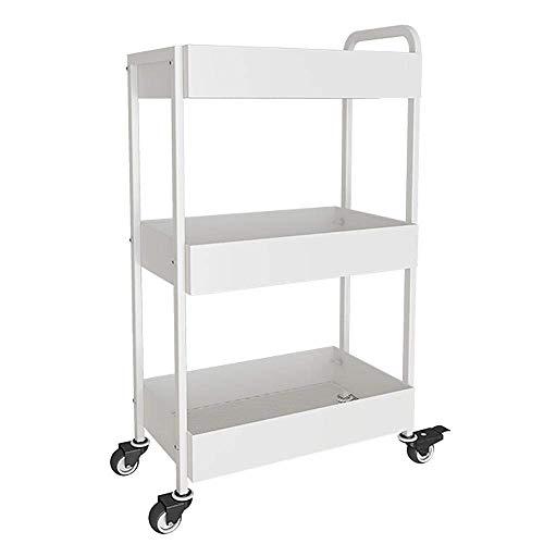CXHMY Multifunktionsregal, bewegliches Küchenregal mit Bodenbefestigung, mehrstöckiges Badregal, Dunkelbraun/Weiß, Wohnzimmerbalkon-Abschlussregal (Farbe: Weiß)