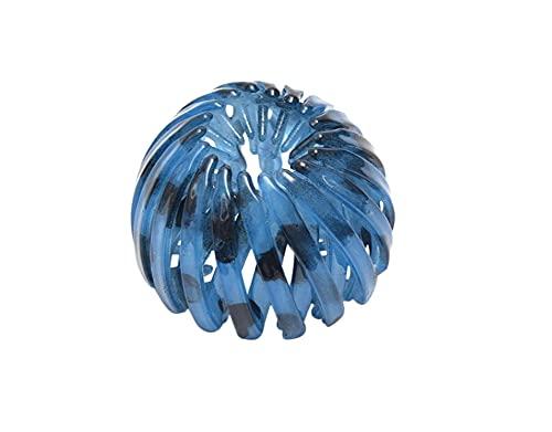 Plus Nao(プラスナオ) ヘアクリップ ヘアリング 髪留め 髪飾り ヘアアクセサリー レディース 女性 ヘアアレンジ まとめ髪 シンプル おしゃ - 2ブルー