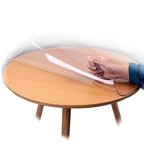 ALGXYQ Cubierta de Mesa Transparente Ovalada de PVC, Cubierta de protección de Mesa Impermeable de Comedor de 1,5-2,5 mm de Espesor, 27 tamaños (Color : 2.5mm, Size : 90x120cm)