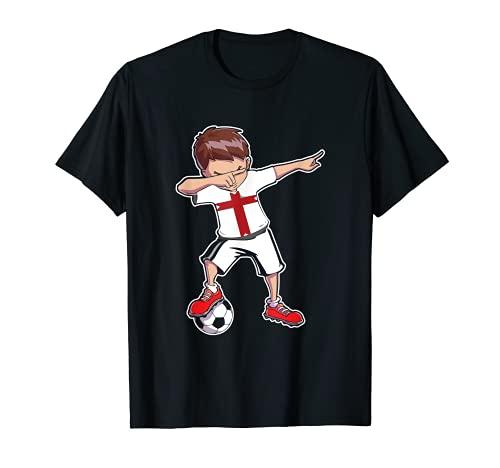 England Trikot Fußball Fan Dabbing Boy Jungs / Herren T-Shirt